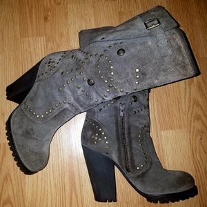 ASH Suede Mid Calf Boots 9